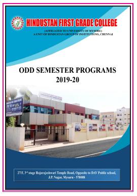 Odd Sem -2019-20